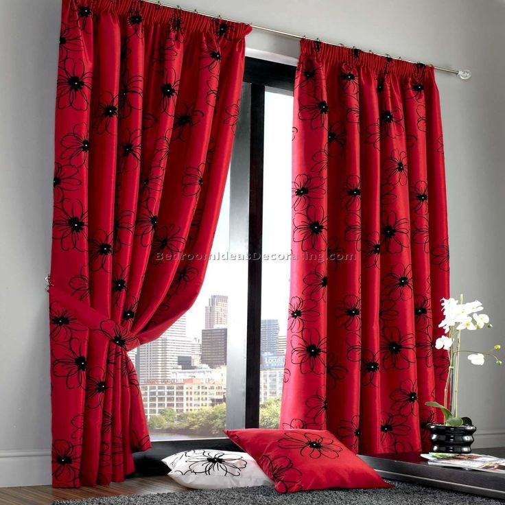 Red And Black Curtains Bedroom Bedroom Wall Art Ideas Check More At Http