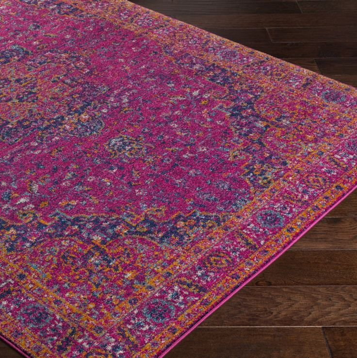 Harput Pink Purple Area Rug I Want A Bright Pseudo Persian Style