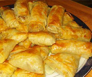 Briuats/Briwat mit Hackfleisch-Nudelfüllung   Marokkanisch Essen