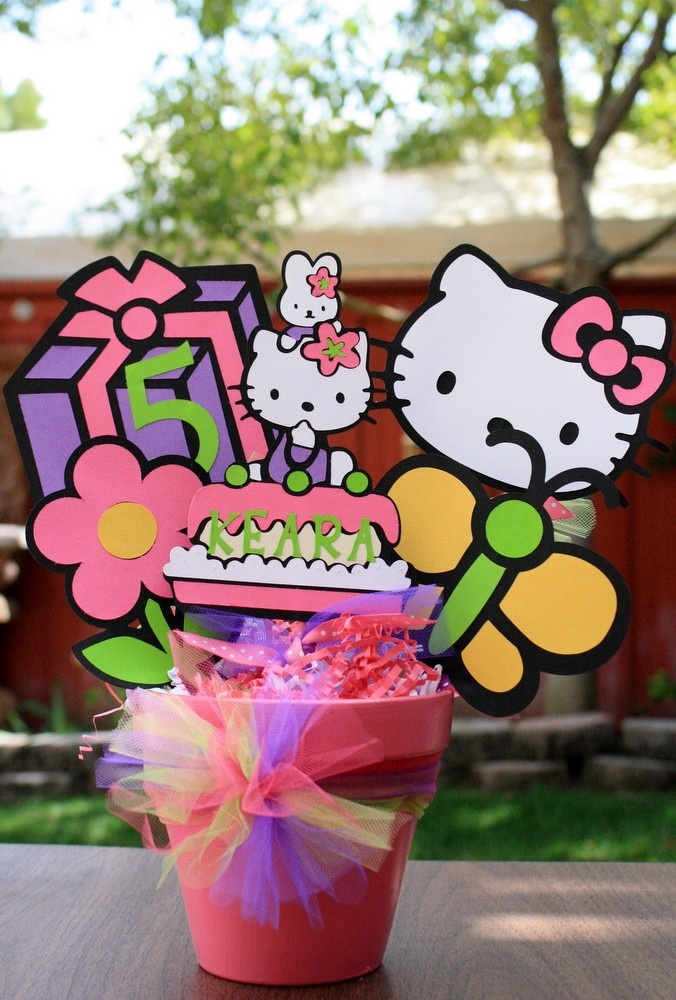 Hello Kitty Bright Color or Original Theme Character Party Bucket/ Centerpiece Custom Party or Room Decor Carnival or any other Theme. $29.99, via Etsy.