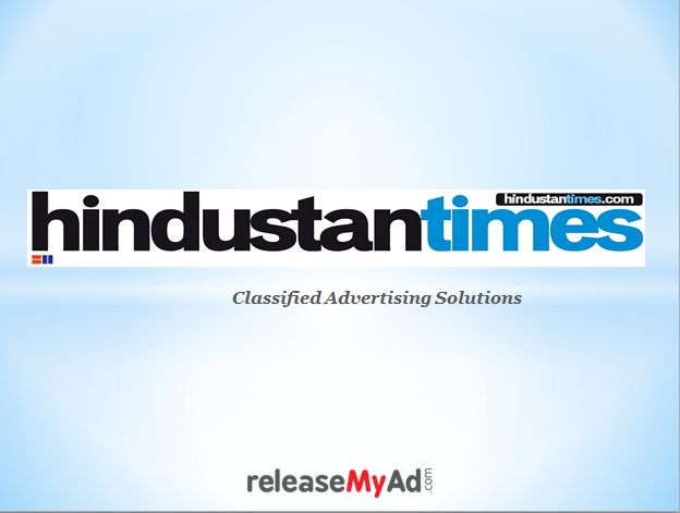 HT Classified Online Booking Agents working 24x7 with Hindustan Times Newspaper. Publish for Matrimonial, Business, Property in Delhi- NCR,Chandigarh & other editions. Visit:- https://issuu.com/releasemyad/docs/hindustan_times_classified_ad_booki_12859e78729741