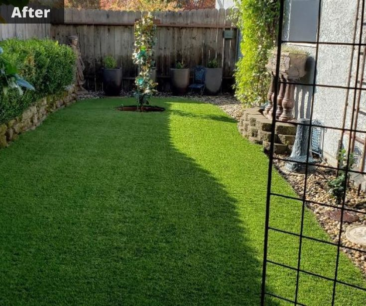 how to install fake grass on dirt