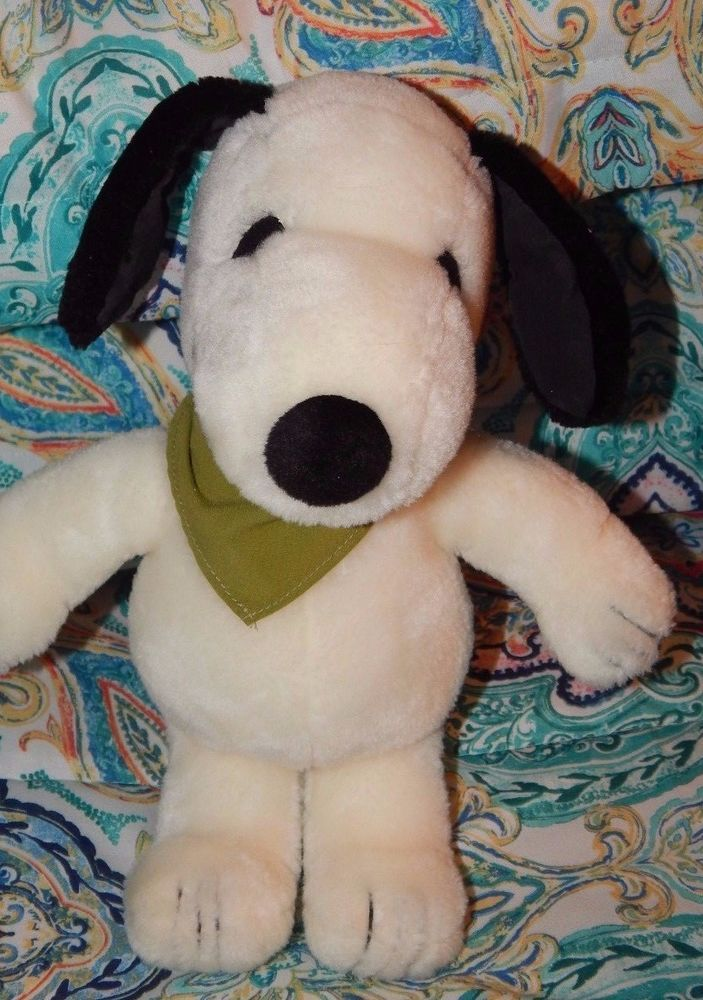 Vintage 1985 Determined Feature Syndicate Plush Snoopy Beagle Dog Peanuts Gang  #Determinedfeaturesyndicate