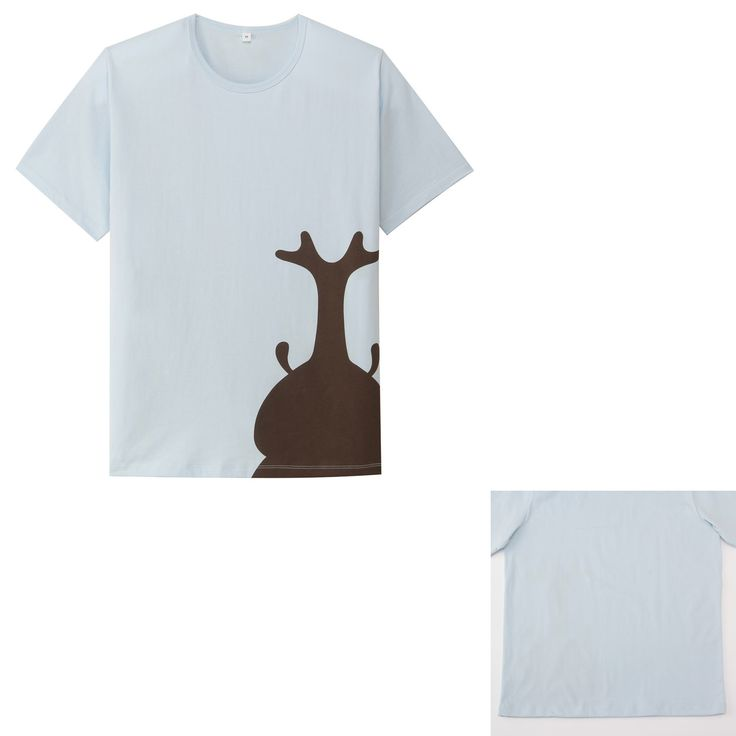 無印良品 オーガニックコットンプリントTシャツ ネット限定 (大人サイズ) 紳士L・かぶとむし