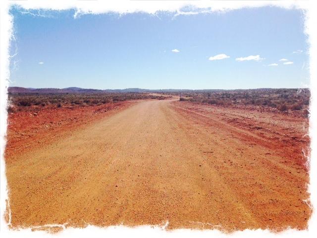 Dirt Road. Broken Hill. NSW
