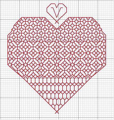 cuore redwork