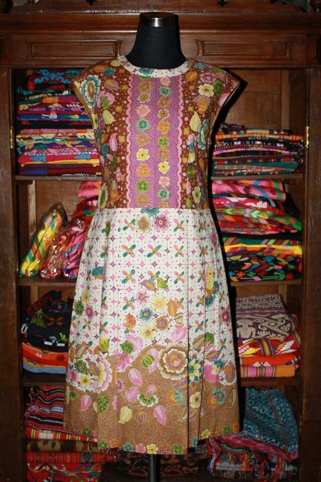 Dress batik tulis hokokai