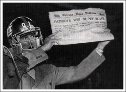 Wishing the Giants would have lost the superbowl...