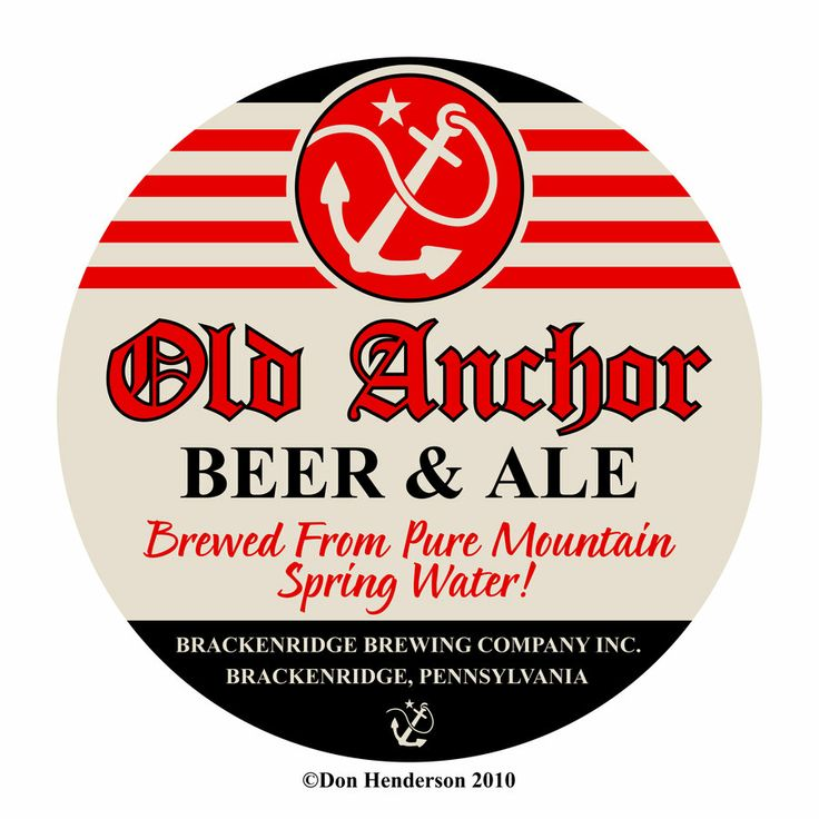 What a great label design: Old Anchor Beer