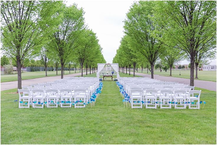 Outdoor Wedding Ceremony at Packard Proving Grounds — Courtney Carolyn Photography