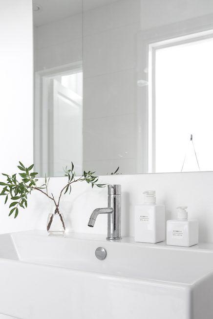25 beste idee n over scandinavische badkamer op pinterest wc ontwerp en minimalistische badkamer - Spiegel wc ontwerp ...