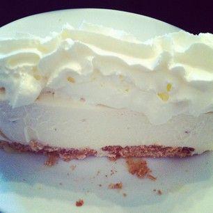 Tarta de queso de chocolate blanco! #cake