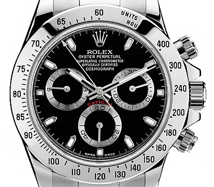 Rolex 116520 Cosmograph Daytona Stainless Steel Black Dial Men's 40mm Chronograph