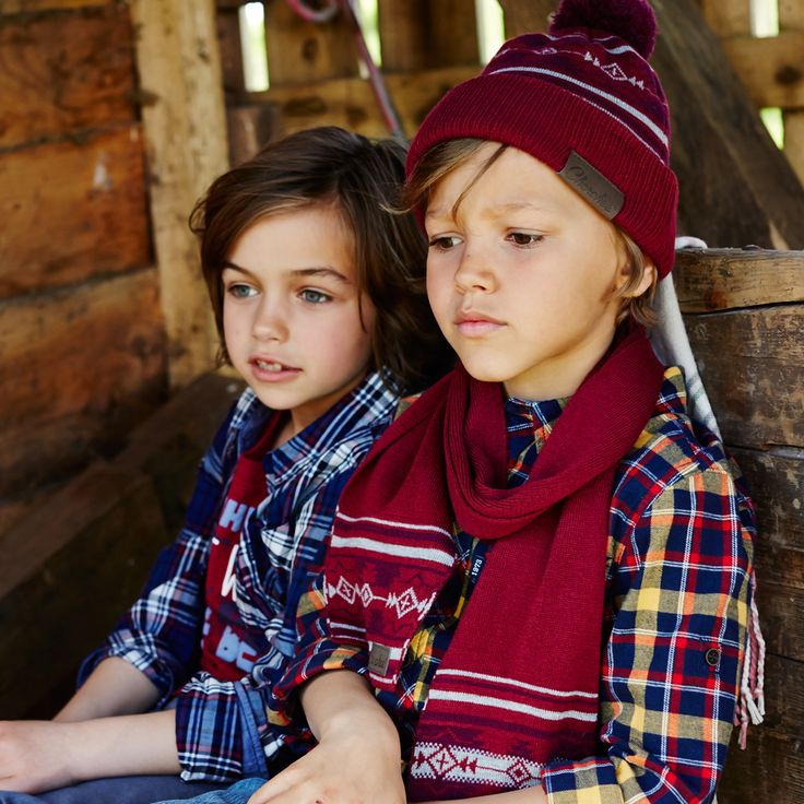 Cherokee Boys Hat and Scarf