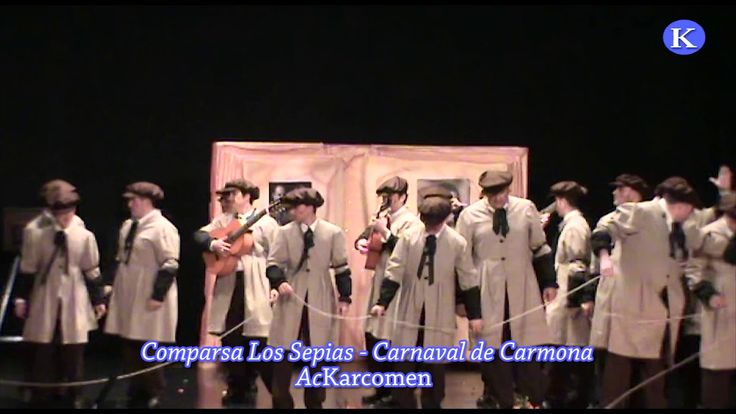 #Carnaval #Carmona Comparsa Los sepias de Carmona 1º premio  Final Carnaval de Carmona 2010