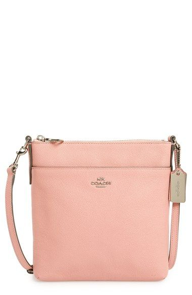 COACH Leather Crossbody Bag available at #Nordstrom IN PINK