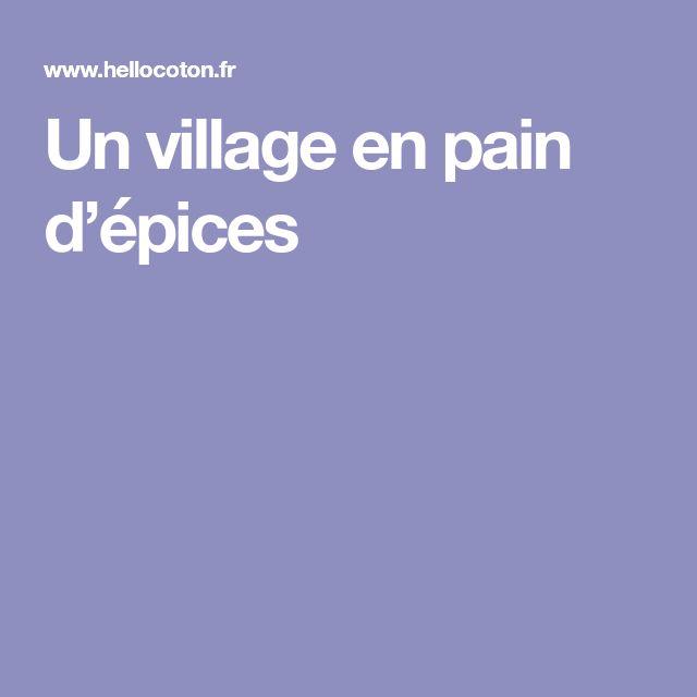 Un village en pain d'épices
