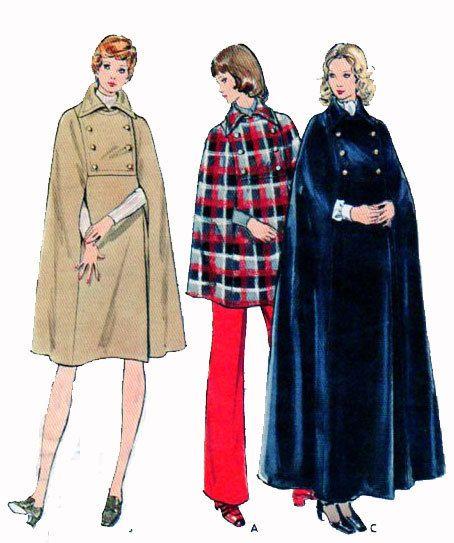 Womens Cape Cloak  1970s Vintage Butterick by FindCraftyPatterns, $20.00