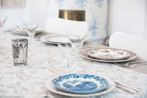 Blå med brun - blue together with brown #borddekking #table setting #wedding #party #selskap #bryllup #konfirmasjon #dåp #gustavsberg #utleie