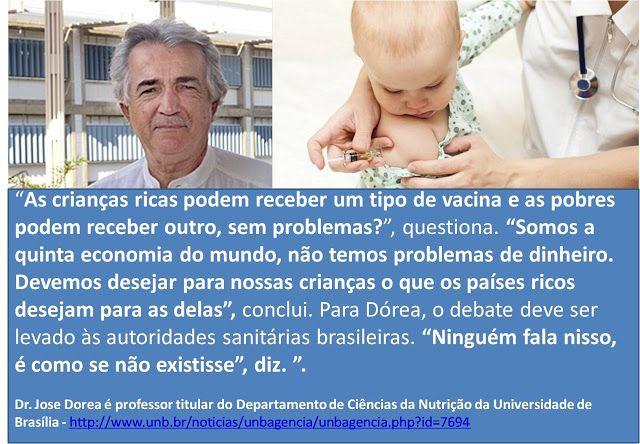 COMPROMISSO CONSCIENTE: AS CRIANÇAS RICAS PODEM RECEBER UM TIPO DE VACINA ...