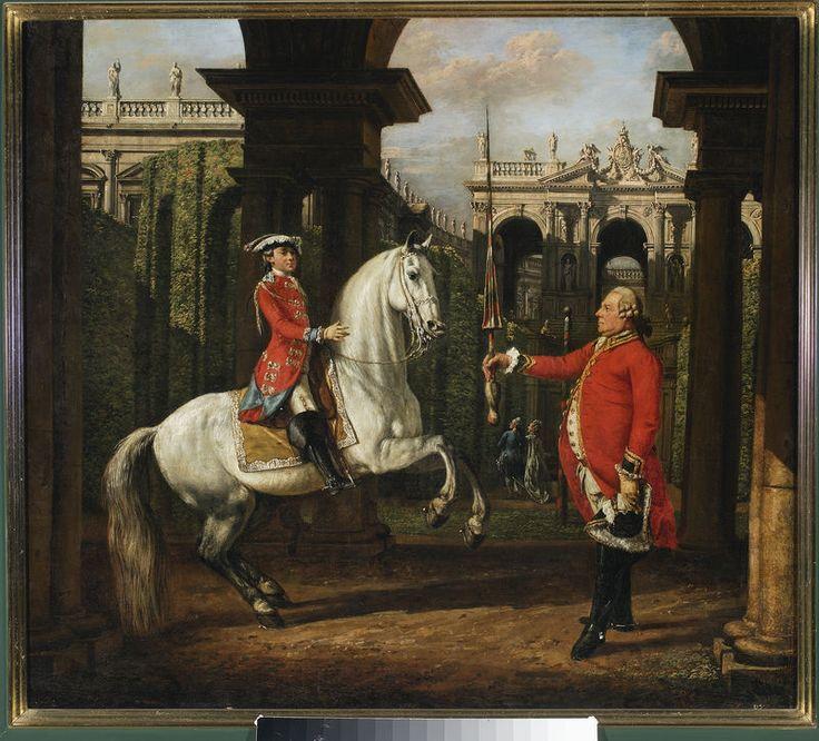 Bellotto, Bernardo, dit Canaletto (1721-1780) Portrait of Prince Josef Poniatowski with Colonel  Koenigsfels. Warszawa, Muzeum Narodowe
