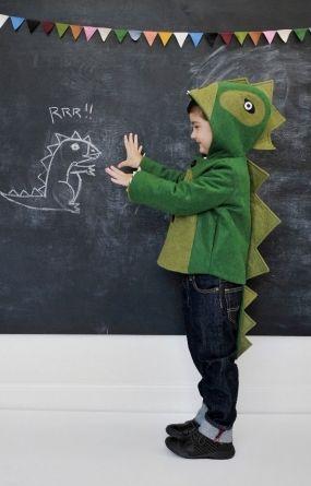Cheeky Green Dinosaur Coat