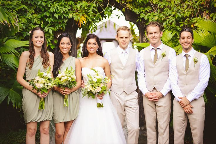 Sage, beige and gold made up the colour scheme of Lava and Daniel's wedding and it worked so well with the venue.