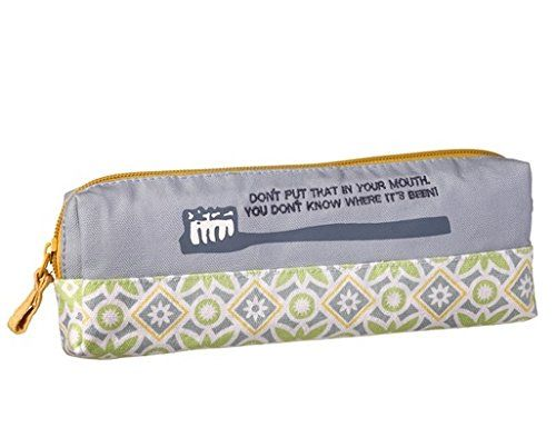Blue Canvas Toothbrush Toothpaste Travel Case Don't Put That in Your Mouth You Don't Know Where It's Been! Style-Wise http://www.amazon.com/dp/B00TAKQGIG/ref=cm_sw_r_pi_dp_v.zdvb0ATV1BY