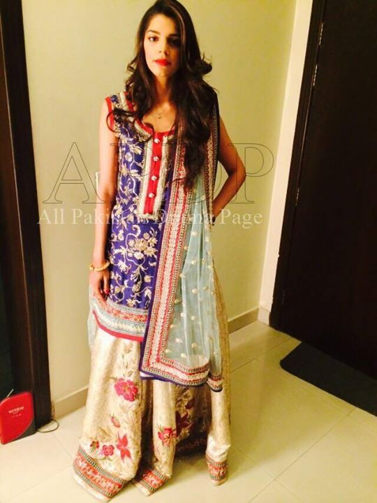 Sanam Saeed Dholki Outfit