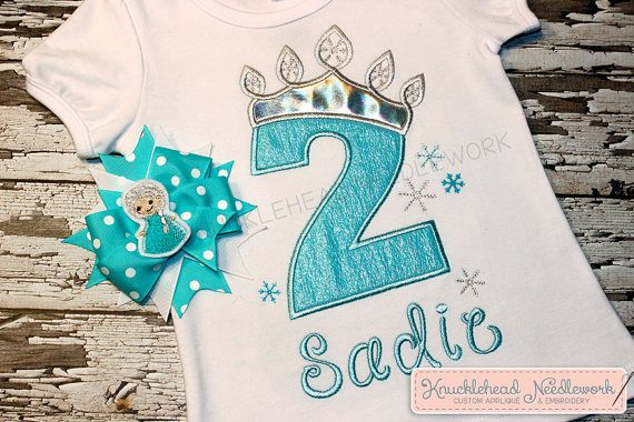 Frozen Birthday Shirt 19 by KnuckleheadNeedlewrk on Etsy, $26.00