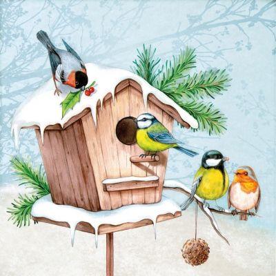 3699 Servilleta decorada Navidad