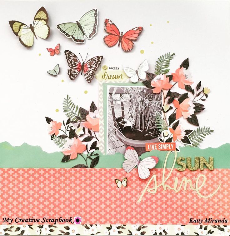 Good morning friends! I have a new video on my channel(link in profile) using the beautiful @mycreativescrapbookofficial February Main Kit. #scrap #scrapbooking #scrapbook #papercraft #fussycutting #mycreativescrapbook #february #mainkit #hazelwood #onecanoetwo #butterfly #flowers #shimmerzpaints #designteam #cat #catsofinstagram