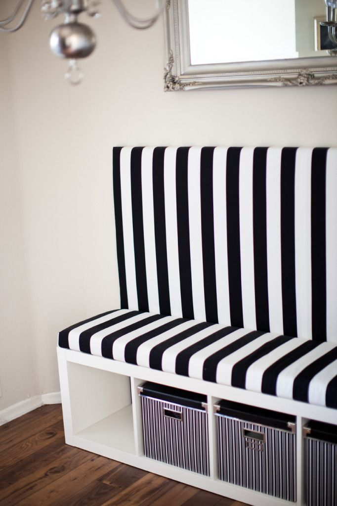 DIY Banquette Ikea Hack--so cute. Love the pattern.