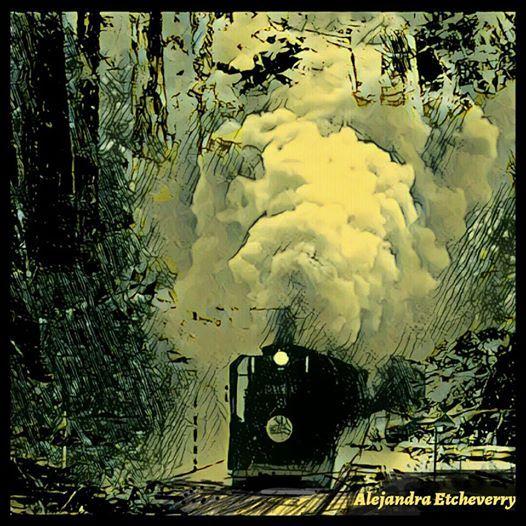 Título: El tren - Arte Digital - San Luis, Argentina - Autora: Alejandra Etcheverry