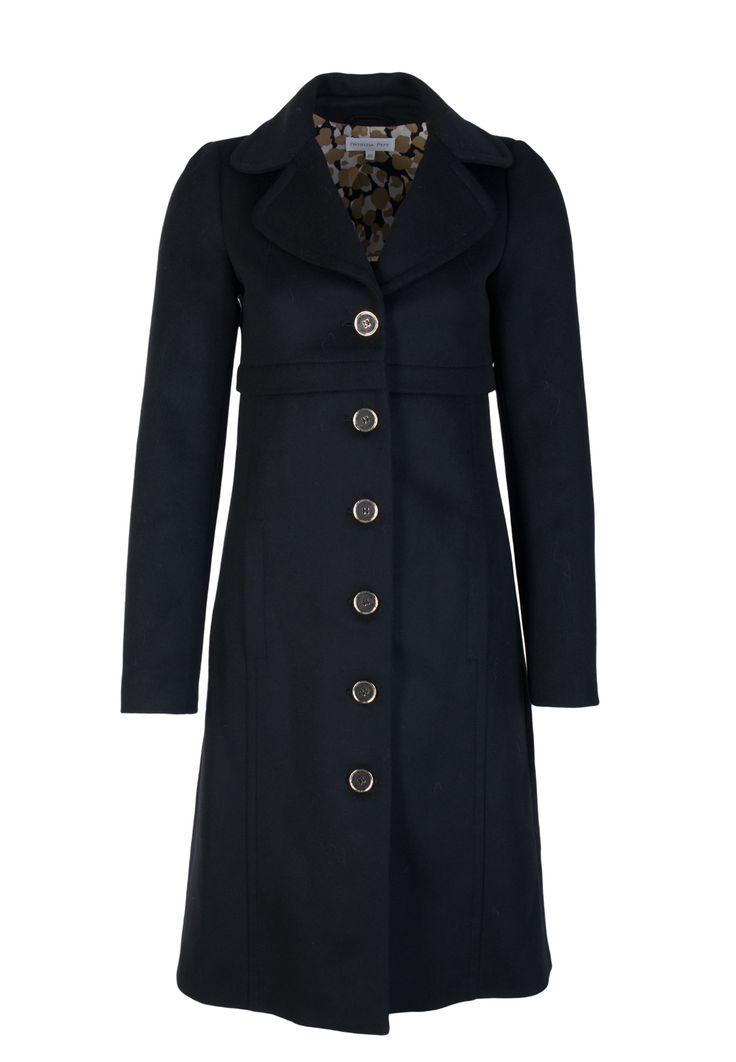 Черное приталенное Пальто ниже колен PATRIZIA PEPE - купить в интернет-магазине Элитс по цене 33390 руб. Доставка вещей Патриция Пепе по России.