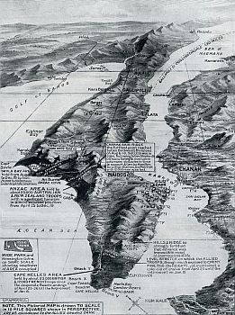 Map of The Gallipoli Withdrawal