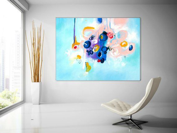 Extra Large Wall Art Original Art Bright Abstract Original Etsy Large Abstract Wall Art Extra Large Wall Art Giclee Art Abstract