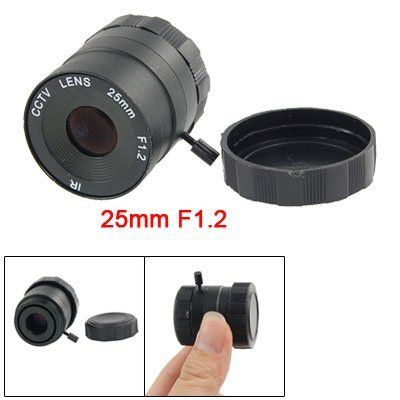 Gino CCTV Camera 25mm Focus Length IR Fixed Iris Lens by Gino. $8.94. High resolution board lens, The 25mm Board Lens provides a standard field of view which is ideally suited for most installations.