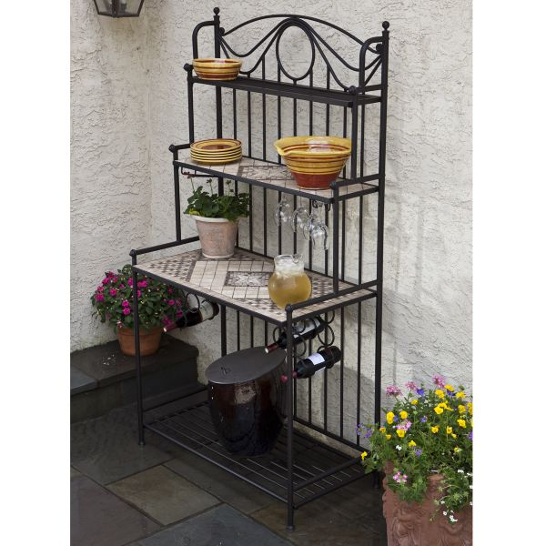 14 Best Bakers Rack Images On Pinterest Wrought Iron