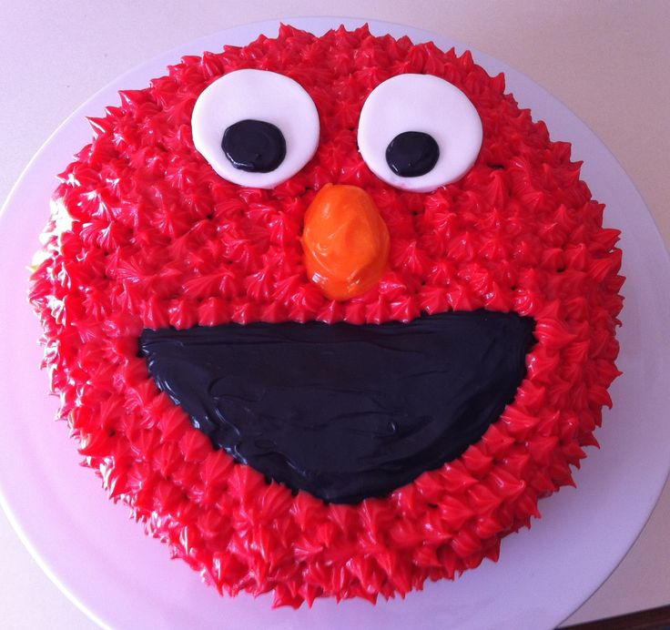Elmo carrot cake with cream cheese frosting