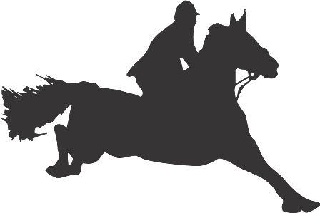 Силуэт лошади F