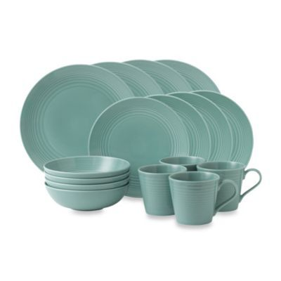Royal Doulton® Gordon Ramsay Maze 16-Piece Dinnerware Set in Teal - BedBathandBeyond.com-Christine- thought of you!!!