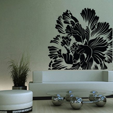 54 best Flowers \ Floral Wall Stickers images on Pinterest - large wall decals for living room