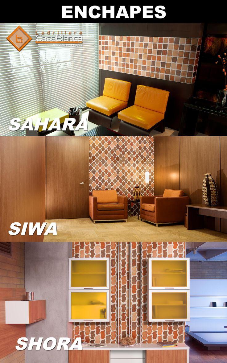 Decora tus espacios con enchapes de Ladrillera Casablanca Sahara - Siwa - Shora Naturaleza en tu espacio! www.ladrilleracasablanca.com
