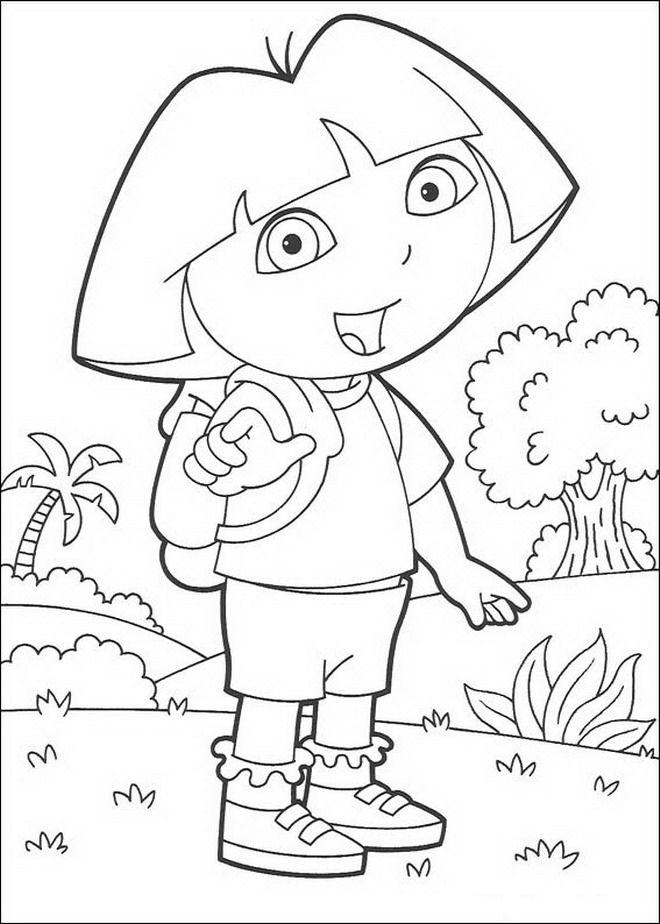 coloring page dora the explorer dora the explorer