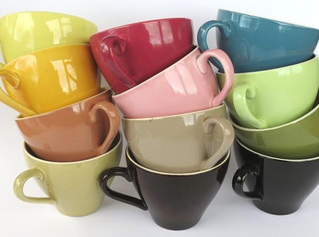 Pretty in pastel - Crown Lynn Colour Glaze
