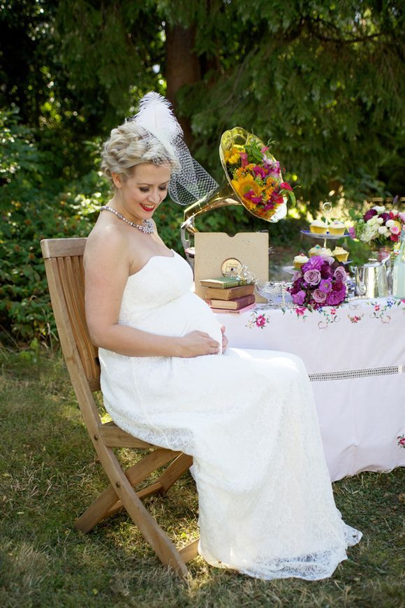 A very special vintage inspired maternity bridal shoot for Vintage maternity wedding dresses