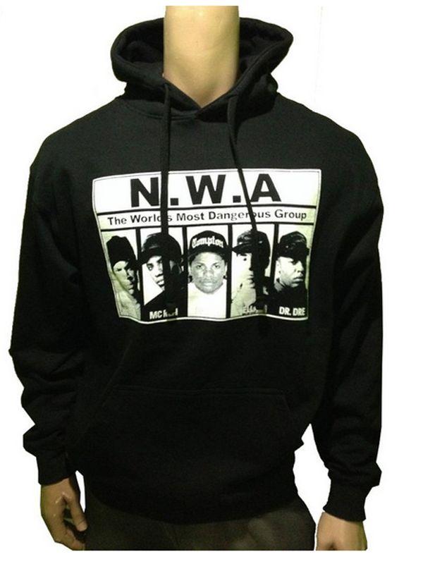 NWA Rap Group Retro Streetwear Matches Jordan Sneakers Mens Black Hoodie Sweatshirt Custom Man Long Sleeve Pullover Size S-3XL