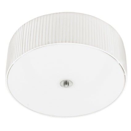 FORTUNA Loftlampe - Loftlampe med hvid plisse plast skærm.