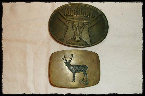 Vintage Brass Belt Buckles two different by RusticTreasures4U, $10.00